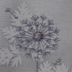 Dandelion . Hand Embroidery
