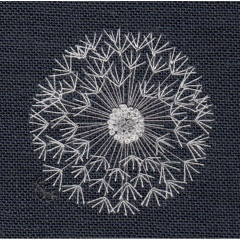 Dandelion head. Hand Embroidery