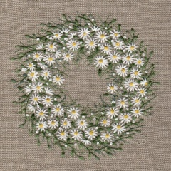 Daisy Wreath. Hand Embroidery