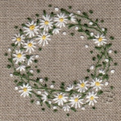 Daisy Ring. Hand Embroidery