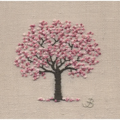 Cherry Blossom. Hand Embroidery