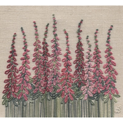 Foxgloves. Hand Embroidery