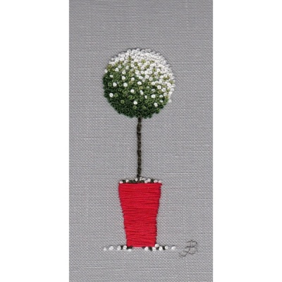 Snow Topiary. Hand Embroidery